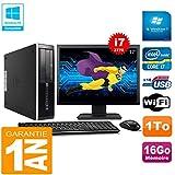 HP PC Compaq Pro 6300 SFF I7-3770 16Go 1To Graveur DVD WiFi W7 Ecran 17'