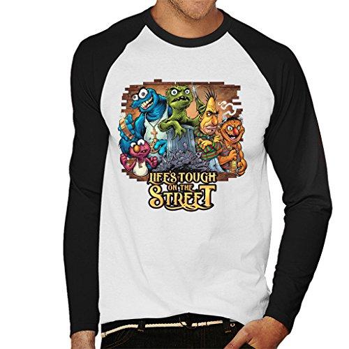 Dark Tough Life On The Street Men's Baseball Long Sleeved T-Shirt ()