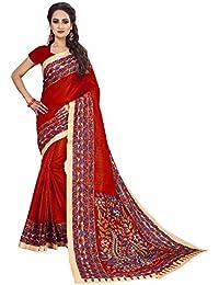 Indianstore24 - Sari - Una Manga - para Mujer Rojo Rojo Estándar