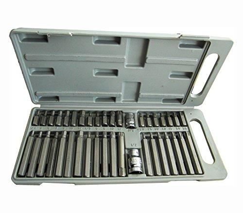 Preisvergleich Produktbild TX06 Torx Sechskantschlüssel Vielzahn Bits Set,  Werkzeug Bit-Satz 40 tlg Nüsse