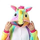 Einhorn Pyjamas Kostüm Jumpsuit Tier Schlafanzug Erwachsene Unisex Fasching Cosplay Karneval (Medium, Gelb 2) für Einhorn Pyjamas Kostüm Jumpsuit Tier Schlafanzug Erwachsene Unisex Fasching Cosplay Karneval (Medium, Gelb 2)