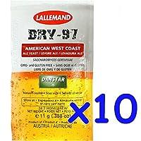 11g (.388oz) pour 25L bière American West Coast style; parfait pour de nombreux styles de American Crafts bières et ales.; active séchées levure emballé sous vide pour fraîcheur; pas de colorants, conservateurs ou d'autres substances artificielles...