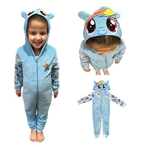 My Little Pony Hooded Fleece Filles Une Pièce Doudoune Pyjama 4-5 Ans (110cm)
