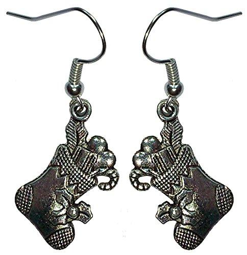 Weihnachtssocken Ohrringe (Antike Kamin-zubehör)