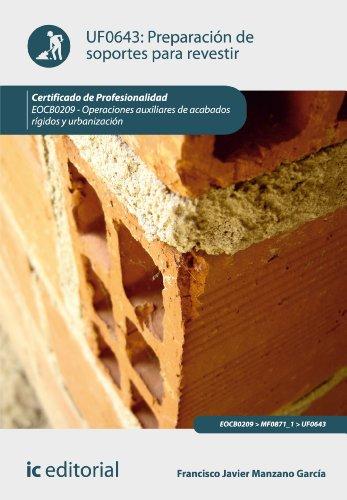 Preparación de soportes para revestir. EOCB0209 por Francisco Javier Manzano García