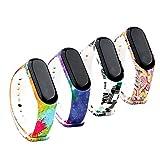 Fit-power Ersatz-Armband für Xiaomi Mi Band,Smart-Watch-Armband (nicht für MI Band 2/1S), 3 Stück, Design-4A