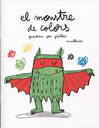 Quadern per pintar segons indicacions de l'estat emocional del monstre.