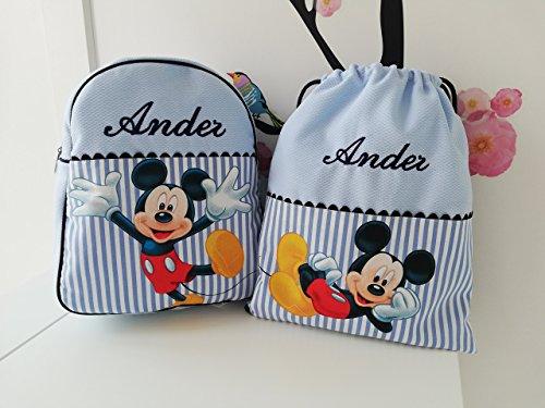 Conjunto mochila y bolsa desayuno