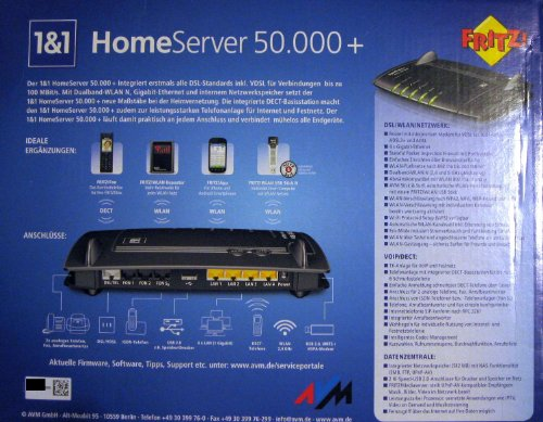 AVM FRITZ.Box fon WLAN 73901und1Edition Home Server 50.000+