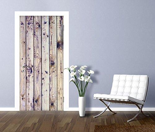 Artland Türbilder selbstklebend aus Vliesstoff oder Vinyl-Folie H20shka Weißer Vintage-Hintergrund auf natürlich, alter Holzwand Architektur Architektonische Elemente Fotografie Creme C4OX