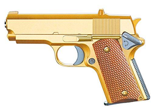 Nerd Clear Softair-Pistole Vollmetall Gold Multicolor ca. 500g schwer Federdruck 6 mm unter 0,5 Joule ab 14 Jahren ABS - Weste Für Softair Kinder