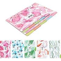 Dytiying - Separadores de índice coloridos de estilo fresco con pestañas de página para 6 agujeros, carpetas de anillas y planificador de lácteos, juego de 5 hojas, color Retro Style A5