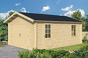 gartenhaus rostock garage carport blockhaus holzhaus 400x550 cm 45 mm garten. Black Bedroom Furniture Sets. Home Design Ideas