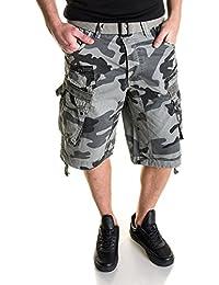 BLZ Jeans Bermuda cargo camouflage gris