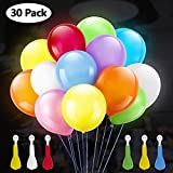 GIGALUMI LED Light Up Globos 30 Pack Color Changing LED Globo de Color Mixto para cumpleaños,...