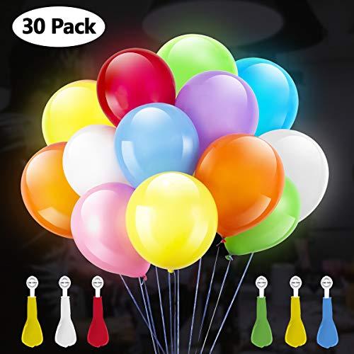 Gigalumi led light up balloons palloncino colorato a 30 colori che cambia colore per compleanno, festa, matrimonio, decorazione di festival, piscina e altre celebrazioni