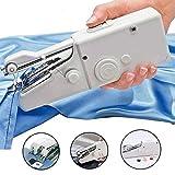 Gogolan Portable Mini Quick Handy Cordless Repair Stitch Hand Held Sewing Machine White