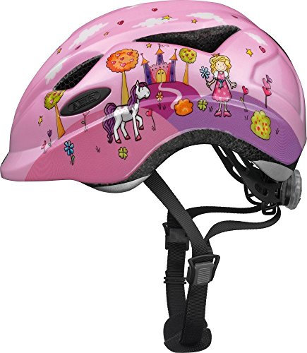 Abus Unisex - Kinder Fahrradhelm Anuky, 08184, Rosa (princess), Gr. S (46-52 cm) (Kleinkind Helm Für 2-jährige)
