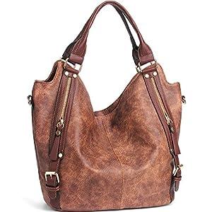 CASELAND Women Shoulder Handbags Handbags for Women PU Leather Tote Shoulder Bags Large Capacity Hobo Bags