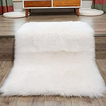 rug club sheepskin ezpass white faux uk fur