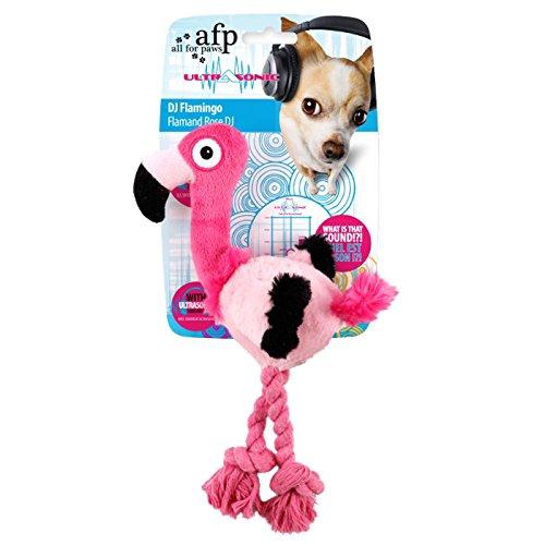 Alle für Pfoten Ultraschall DJ Flamingo Hundespielzeug, klein (Flamingo Hundespielzeug)