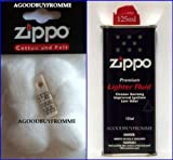 Zippo Más Ligero Fluido Combustible Gasolina algodón algodón fieltro mecha y Piedra de mechero