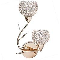 Asvert Aplique Cristal Lujoso de 40w de Interior Lámpara de Pared Elegante Luz de Casquillo E14 Iluminaión Hogareña Luminosa