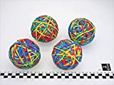 Progom - 4 x gummibänder ball - rubber band ball - Ø7 cm - 200 g - 4 farben