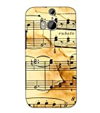Fuson Designer Back Case Cover for HTC One M8 :: HTC M8 :: HTC One M8 Eye :: HTC One M8 Dual Sim :: HTC One M8s (Musical Notes Theme)