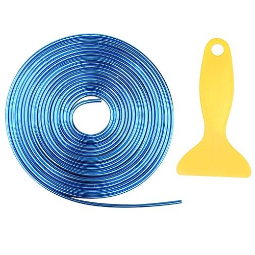 Fushengda - Tira de 5 m para Rellenar Coches, Color Azul Brillante, fácil de Poner y Quitar, 3D, para Decorar el Interior del Coche, para Accesorios universales de Coche