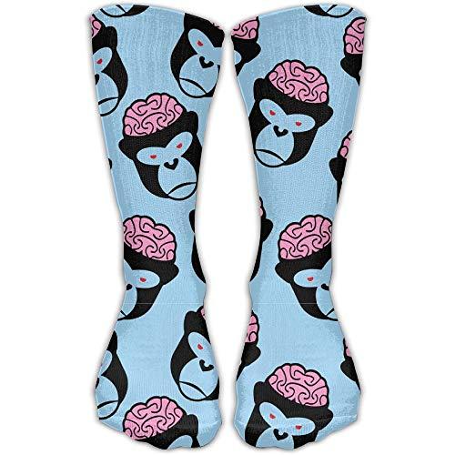 Novelcustom Funny Monkey Fashionable Sock Long Socks Sports Athletic Crew Socks Men Women 50cm/19.7
