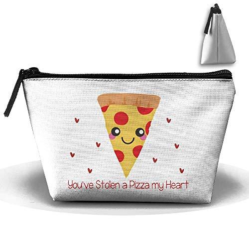 Trapezoidal Bag Makeup Bag You've Stolen A Pizza My Heart Storage Portable Travel Wash Tote Zipper Wallet Handbag Carry Case