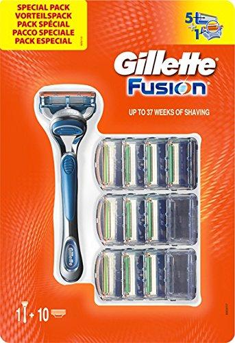 Pack Gillette Fusion con 11 recambios
