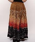 Soundarya Women Cotton Skirts -Multi -Fr...