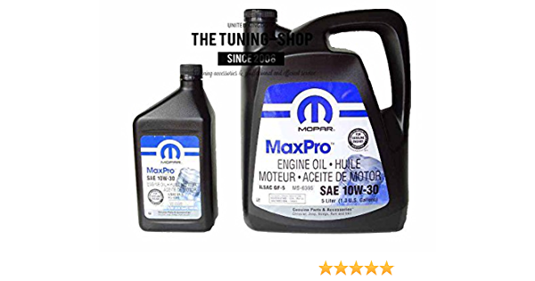 Mopar Mineral Motoröl Sae 10 W 30 Maxpro 5l 0 946l Auto