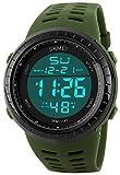 fanmis militare Sport analogico al quarzo digitale impermeabile luminoso nero orologio verde