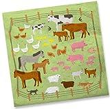 20 Servietten * Bauernhof * für Kindergeburtstag // Mottoparty Kinder Geburtstag Party Tiere Farm Kinderparty Farm Napkin Papierservietten