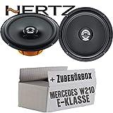 Lasse W210 Front - Hertz DCX 165.3-16cm Koax Lautsprecher - Einbauset für Mercedes E- JUST SOUND best choice for caraudio