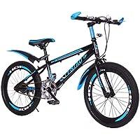 """Kashyk Vélo de montagne pliable 24"""" pour homme, femme ou garçon, avec vitesse variable et deux freins à disque, ABS, bleu, taille unique"""