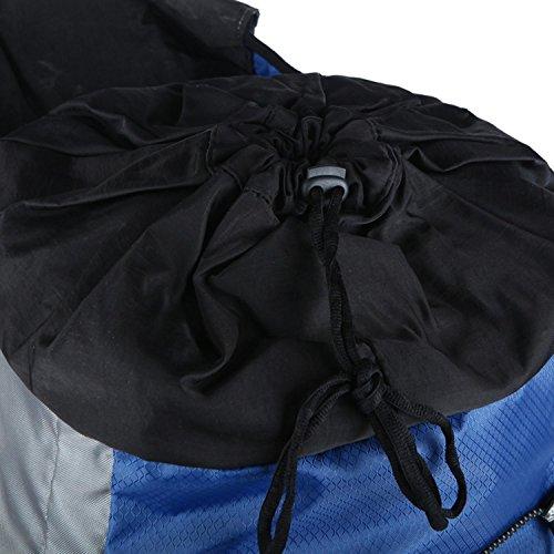 HWJDK Wandern Rucksäcke, Outdoor 60L Bergsteigen Tasche Wasserdicht Wandern Camping Rucksack Rucksack Black