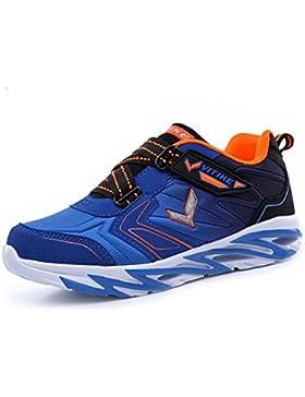 ASHION Scarpe per bambini Scarpe ragazze casuali Primavera scarpe da tennis Scarpe da corsa leggere (blu, 34 EU)