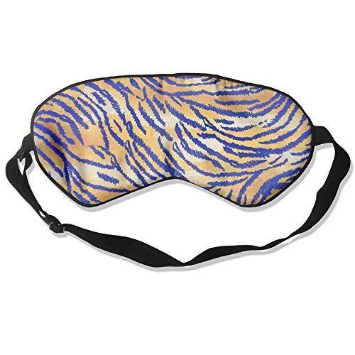 Watercolor Leopard Tiger Print Natural Silk Sleep Mask & Blindfold Super-Smooth Eye Mask