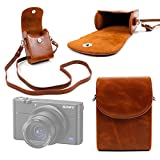 DURAGADGET Durable & Ultra-Portable, Retro-Inspired Compact Camera Case in 'Vintage' Brown for Sony RX100 IV | DSC-RX100M4 Camera
