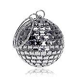 SUN&STAR Ankunft Frauen Abend Clutch Geldbörse Diamanten Metall Luxuriöse Mode Dame Handtaschen Kette Schulter Handtaschen Hochzeit Tasche (Farbe : SCHWARZ)