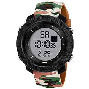 SKMEI Digital Dial Men's Watch-1251 Black (03-CamoBrwn)