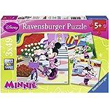 Ravensburger 09416 - Hübsche Minnie Mouse - Puzzle, 3 x 49 Teile