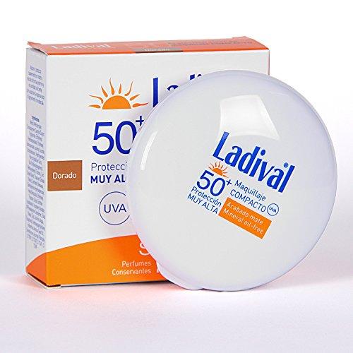 Ladival Maquillaje Compacto SPF 50 Dorado 10 gr - Maquillaje Con Muy Alta Protección Solar