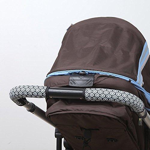 [Manito] Clean Grip STOKKE CRUSI baby stroller handle cover / Housse de poignée poussette bébé (Flower_black)