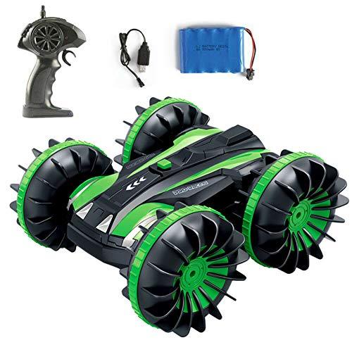 drrerytu 2,4 G ferngesteuertes Vierrad Amphibien-Fahrzeug, wasserfest, doppelseitig, für Fahrzeugen