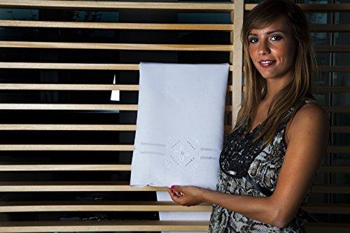 Reinigungstuch mehr Gästehandtuch Punkt antik Toscano aus Halbleinen Bestickt Hand Made in Italy 70x 110+ 40x 70cm -